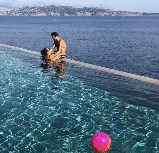 Alena na dovolené se svým italským přítelem Alessandrem
