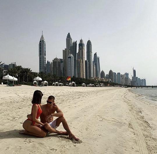 Majk Spirit je s přítelkyní Marií na dovolené v Dubaji.