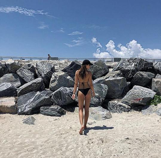 Kateřina si užívá na dovolené v Miami.