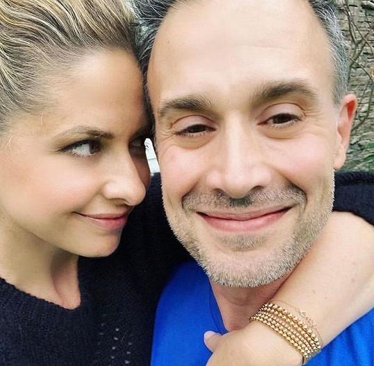 Sarah Michelle Gellar s manželem Freddiem Prinzem Jr.