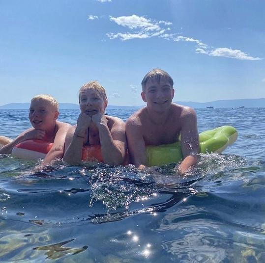 S manželkou a dětmi odjeli do Chorvatska.