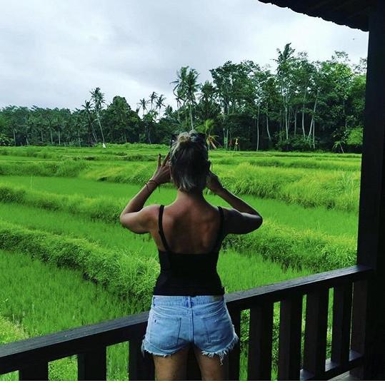 Při focení rýžových polí