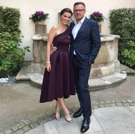 Kateřina s manželem Martinem Cinolterem.