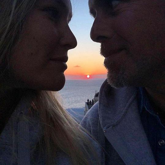 Romantika u západu slunce nesmí na dovolené chybět...