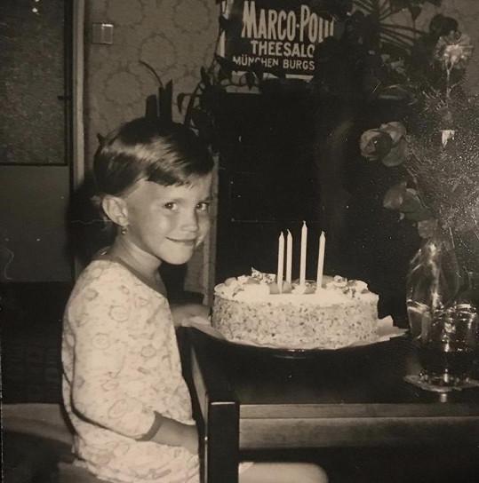 Gábina Partyšová během oslavy čtvrtých narozenin