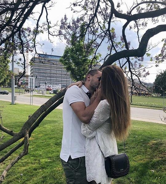 Úřadující Česká Miss Michaela Habáňová s přítelem Matějem