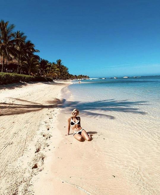 Klára Koukalová je na dovolené na Mauriciu.