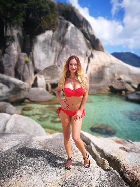 Bára Mottlová si užívá dovolenou v Thajsku.