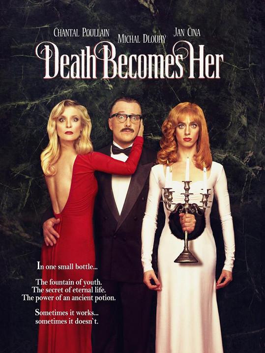 S Honzou Cinou a Michalem Dlouhým na plakátu k filmu Smrt jí sluší