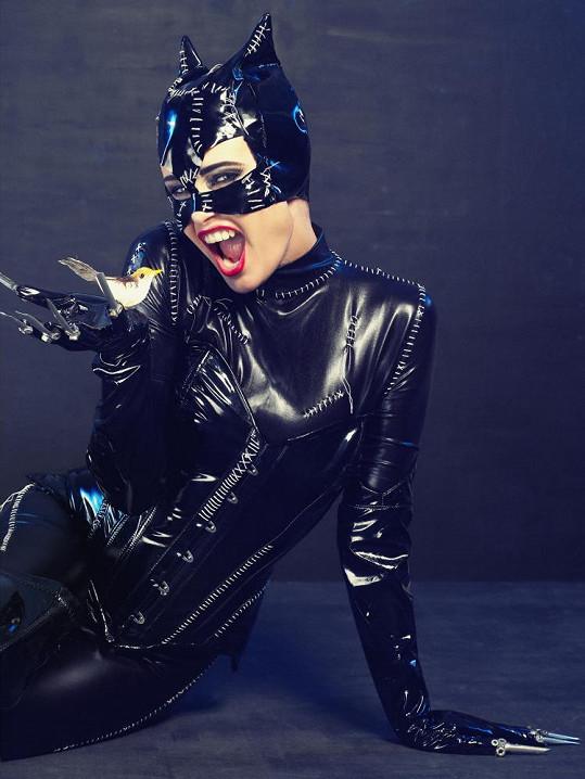 Jitka je jako Catwoman úžasná.