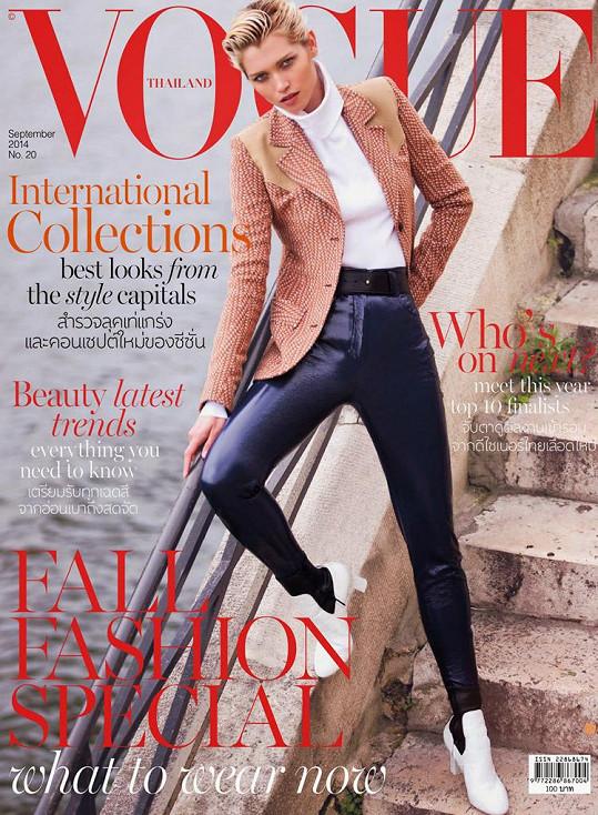 Jiříčková na obálce thajské mutace magazínu Vogue
