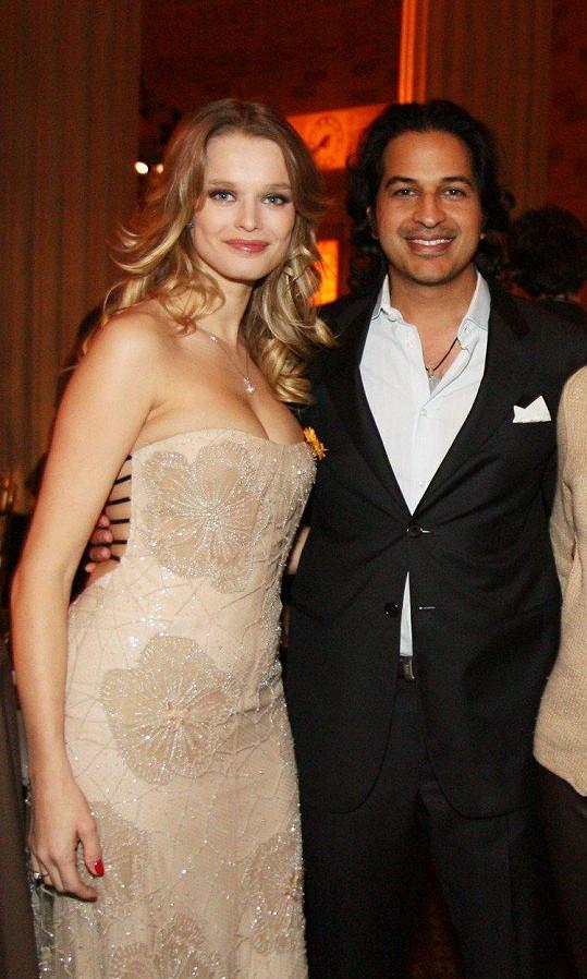 Helena Houdová s bývalým manželem Omarem Amanatem