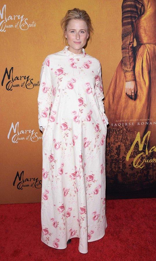 Herečka Mamie Gummer se těší na první dítě.