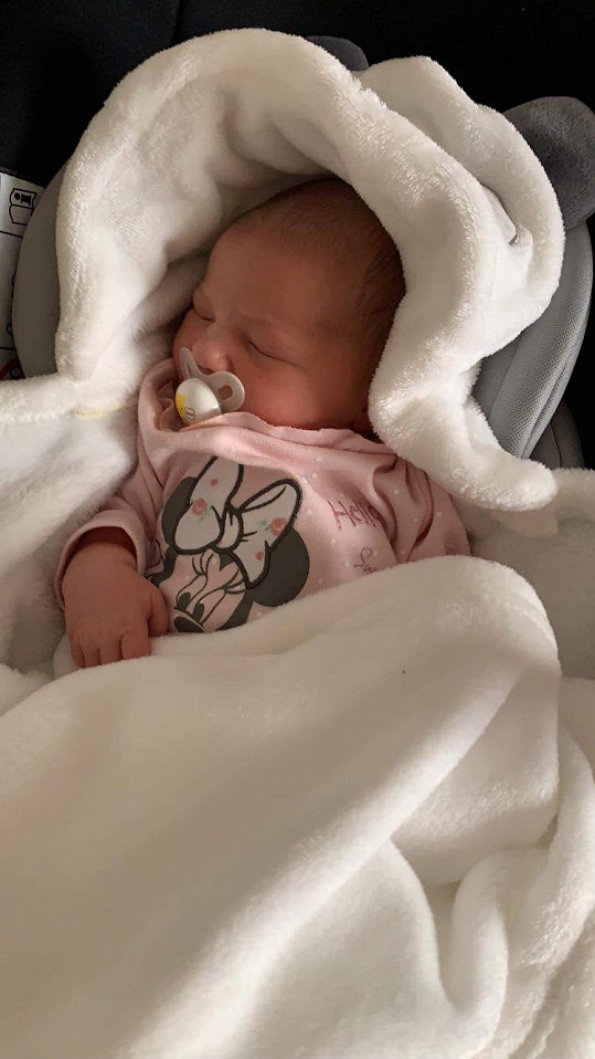 Bohuš Matuš se stal poprvé tatínkem, tohle je jeho rozkošná dcera Natálka.