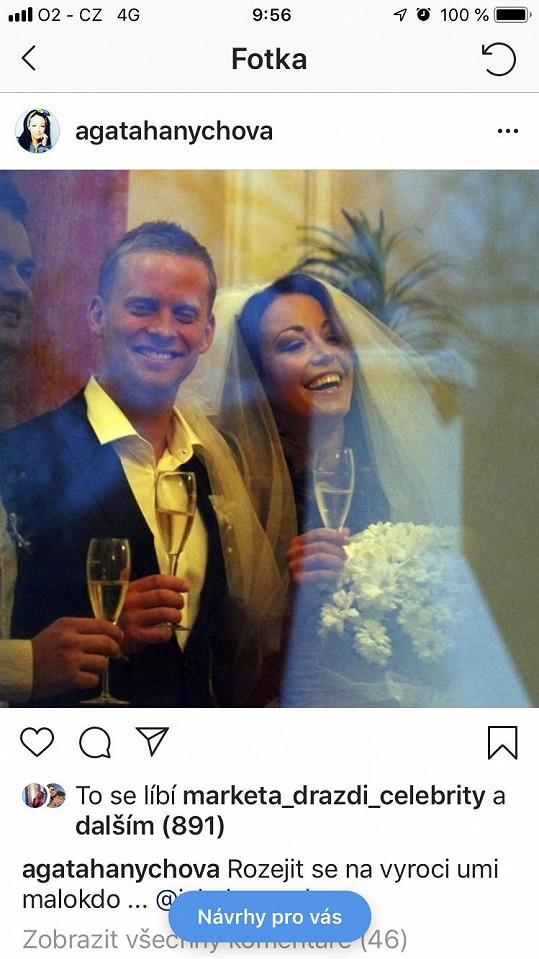 Agáta sdílela snímek ze svatby se textem o rozchodu s manželem.