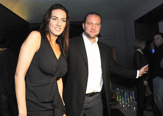 Lucie s partnerem Jiřím Šlégrem.