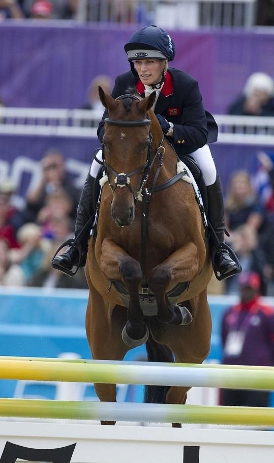 Zara Phillips během své spanilé jízdy na letošních olympijských hrách.