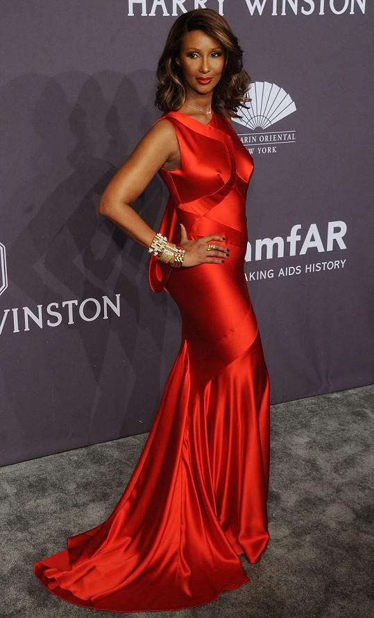 Somálská modelka se blýskla na události amfAR Gala v New Yorku.