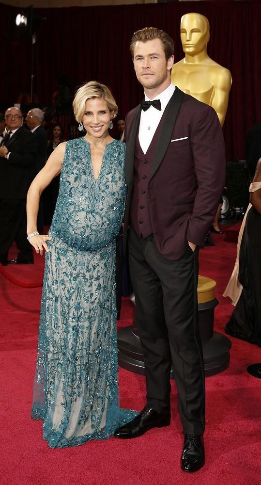Chris a Elsa na letošním udílení Oscarů