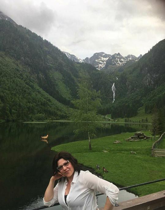 V pátek zpívala v Rakousku a na sociální síti se pochlubila touto scenérií.