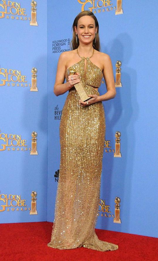 Brie byla krásná i na Zlatých glóbech.