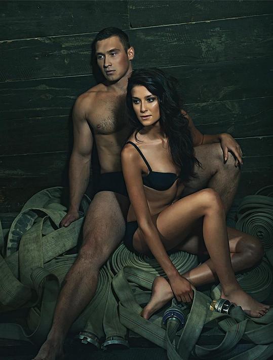 Veronika s Hasičem roku Jakubem Mičunkem