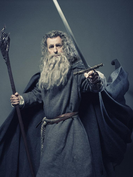 David Prachař jako Gandalf z Pána prstenů