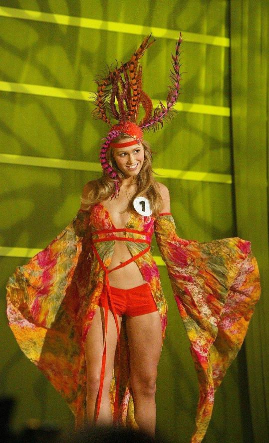 Michaela Štoudková během České Miss 2005