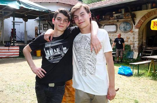Josef (vlevo) a František Trojanovi při natáčení