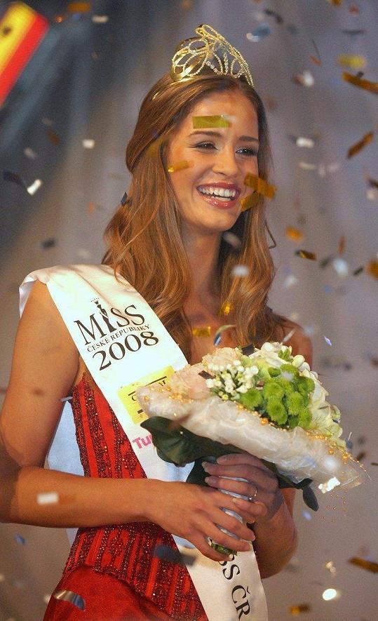 Jandová v roce 2008, kdy se stala Miss ČR.