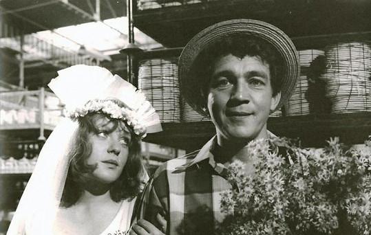 Eva Čeřovská s Jiřím Krampolem ve své nejslavnější roli