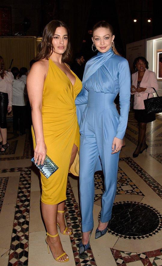 Modelky XL a XS - Ashley Graham a Gigi Hadid.