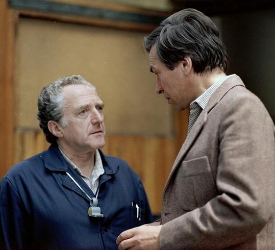 S Františkem Němcem v seriálu Třetí patro (1985)