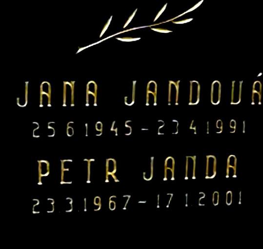 Hrob Petra Jandy mladšího a jeho matky Jany.