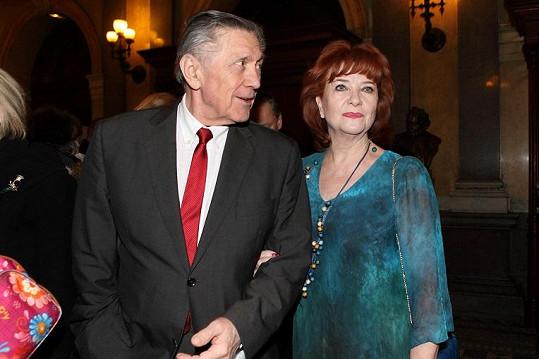 Nechyběl ani Petr Kostka s manželkou Carmen Mayerovou.