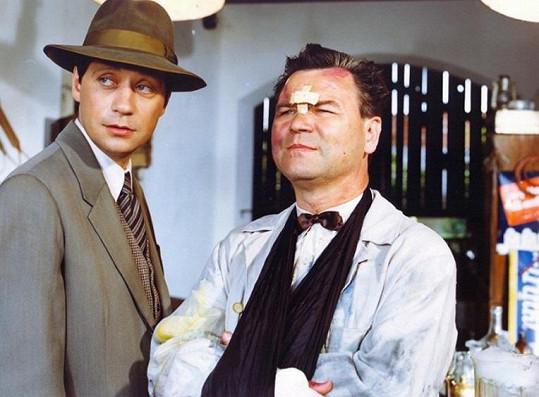 S Pavlem Křížem ve filmu Andělské oči (1994)