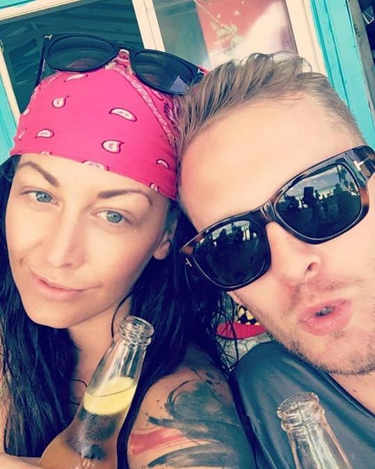 Agáta Prachařová s Jakubem Prachařem tráví dovolenou v Dominikánské republice.