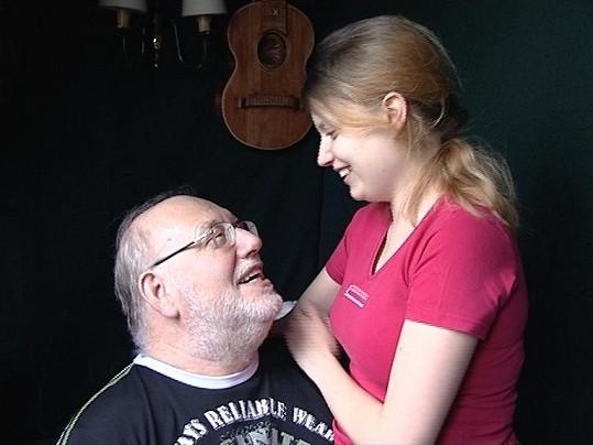 Honza Nedvěd se svou milovanou Pavlínkou.