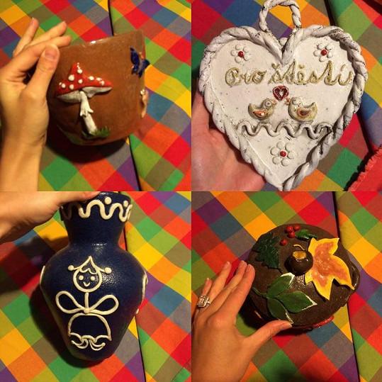 Lucie Gelemová vytváří i keramické výrobky.
