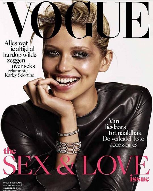 Jiříčková na obálce holanské mutace módní bible Vogue.