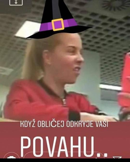 Veronika Řepková vyrobila koláž Kateřiny Kristelové