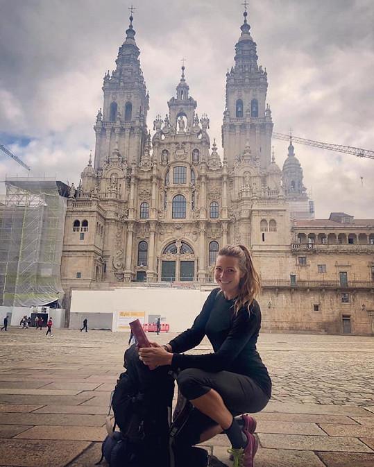 Čerešňáková putovala do Santiaga de Compostela.