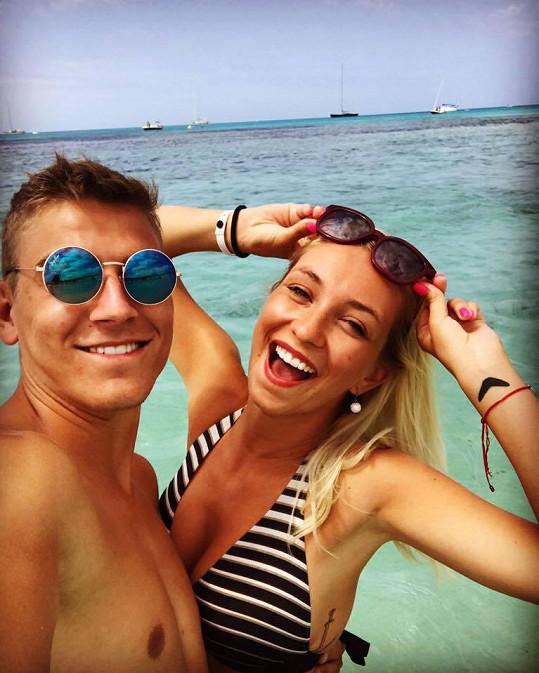 David Gránský s přítelkyní Nikolou by se měli do nového domu stěhovat za rok.