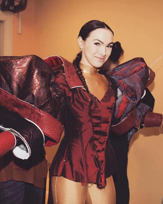Michaela Nosková přiznala, že těžší kostým na sobě ještě neměla.