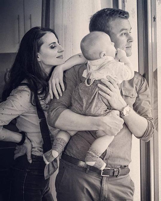 Markéta s manželem a synem Teodorem