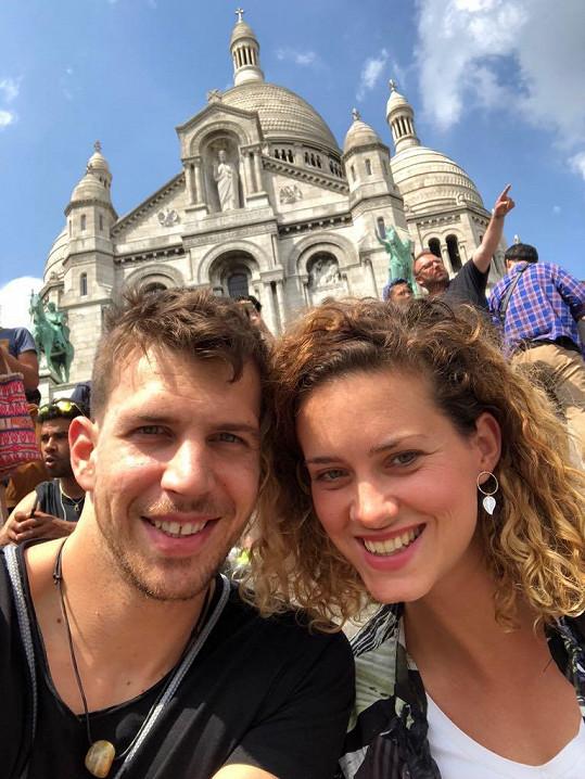 Peter s přítelkyní Kateřinou Sedlákovou