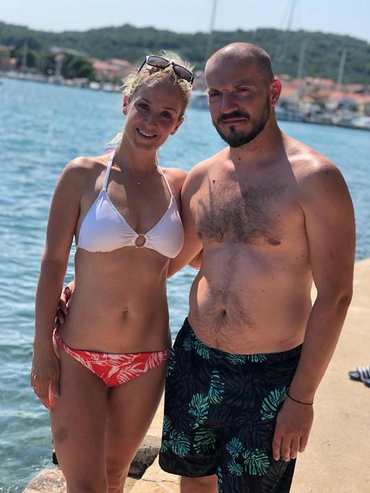 S manželem Michalem si užívali v Chorvatsku.