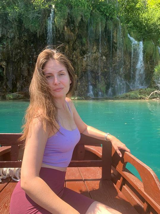 Letos poprvé navštívila Plitvická jezera.
