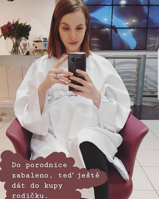 Gabriela Lašková je v 9. měsíci těhotenství.