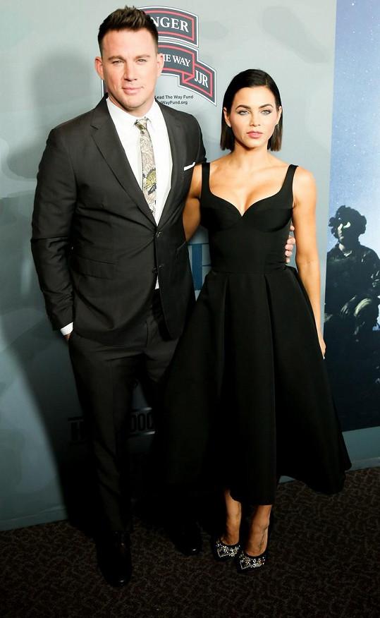 Jenna Dewan s bývalým manželem Channingem Tatumem vychází dobře.